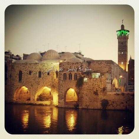 صورة مسائية جامع النوري