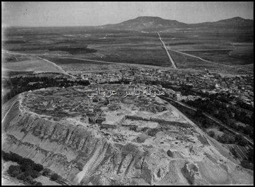 صورة قديمة قلعة حماة من الجو