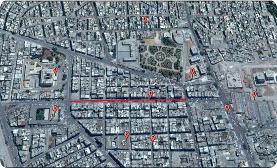 خريطة توضح مكان حي الأميرية