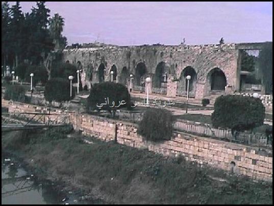 نهر العاصي والقناطرالحجرية لناعورة الجسرية بحديقة ام الحسن 1998