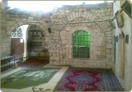الفناء الخارجي لزاوية الشيخ علوان .