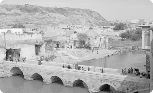 جسر الكيلانية - قلعة حماة 1950م