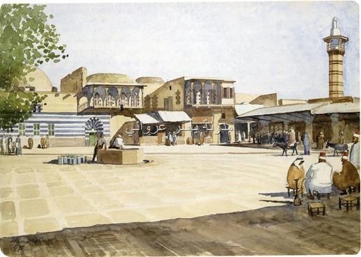 ساحة في حي جورة حوا بمدينة حماة