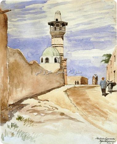 مئذنة وقبة جامع أبي الفداء