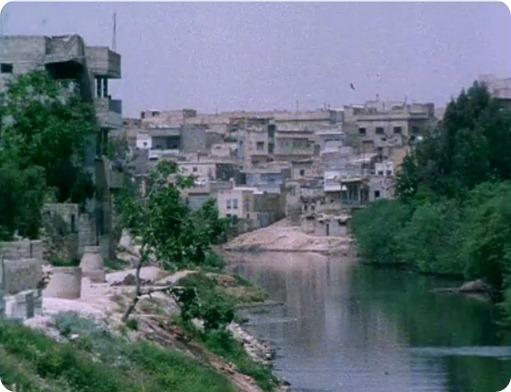 البيوت القديمة على ضفاف نهر العاصي