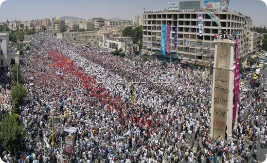 ساعة حماة أثناء المظاهرات