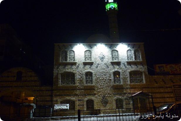 صورة ليلية مسجد الأفندي