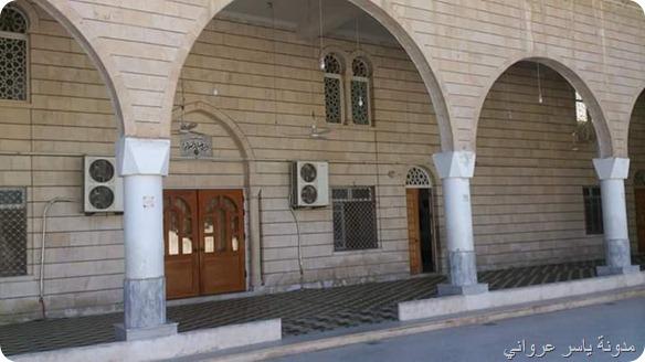 الباحة الخارجية لجامع التكية الهدائية