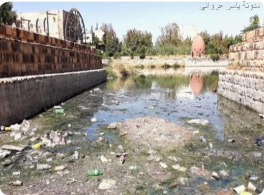 تلوث نهر العاصي في حماة