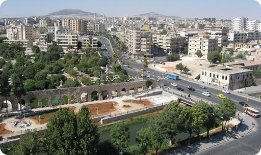 ساحة العاصي في مدينة حماة