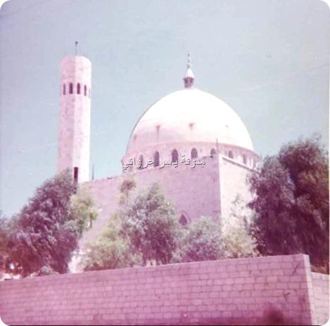 قبة ومئذنة جامع التكية الهدائية 1975م